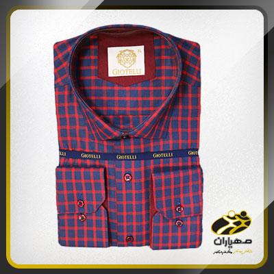 پیراهن طرح دارجیوتلی چهارخانه